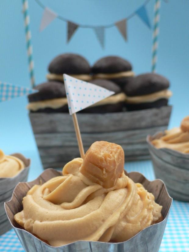 Karamell Cupcakes und Schoko Whoopies