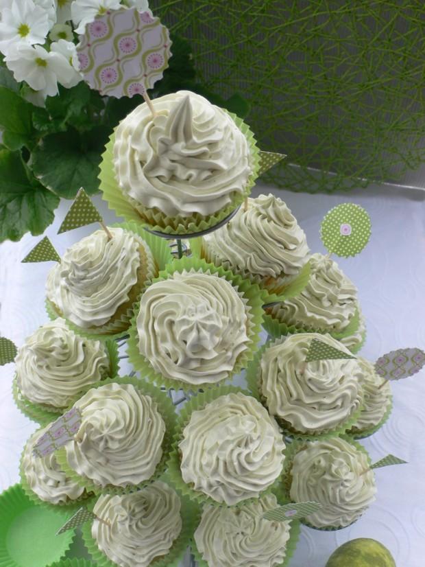 Pistazien Cupcake Tannenbaum