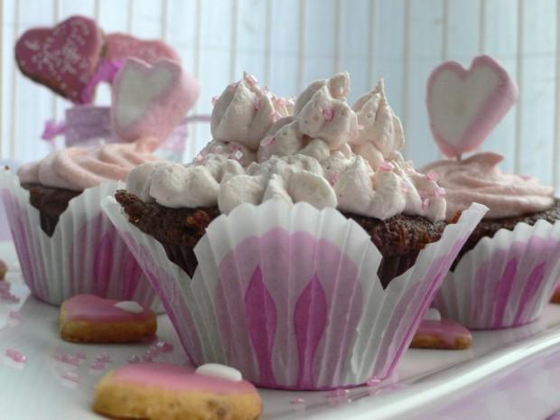 Schoko-Erdbeer-Mascarpone-Cupcakes