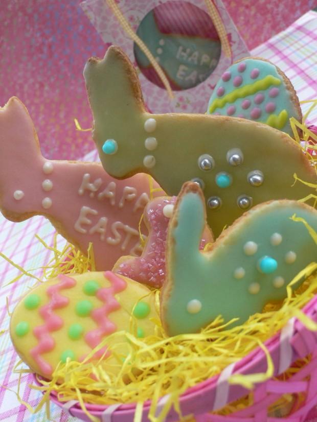 Osternhasenkekse im Nest