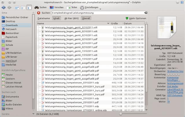 """nepomuksearch - Suchergebnisse von """"Komplexitätsgrad Leistungsmessung"""" – Dolphin_002"""
